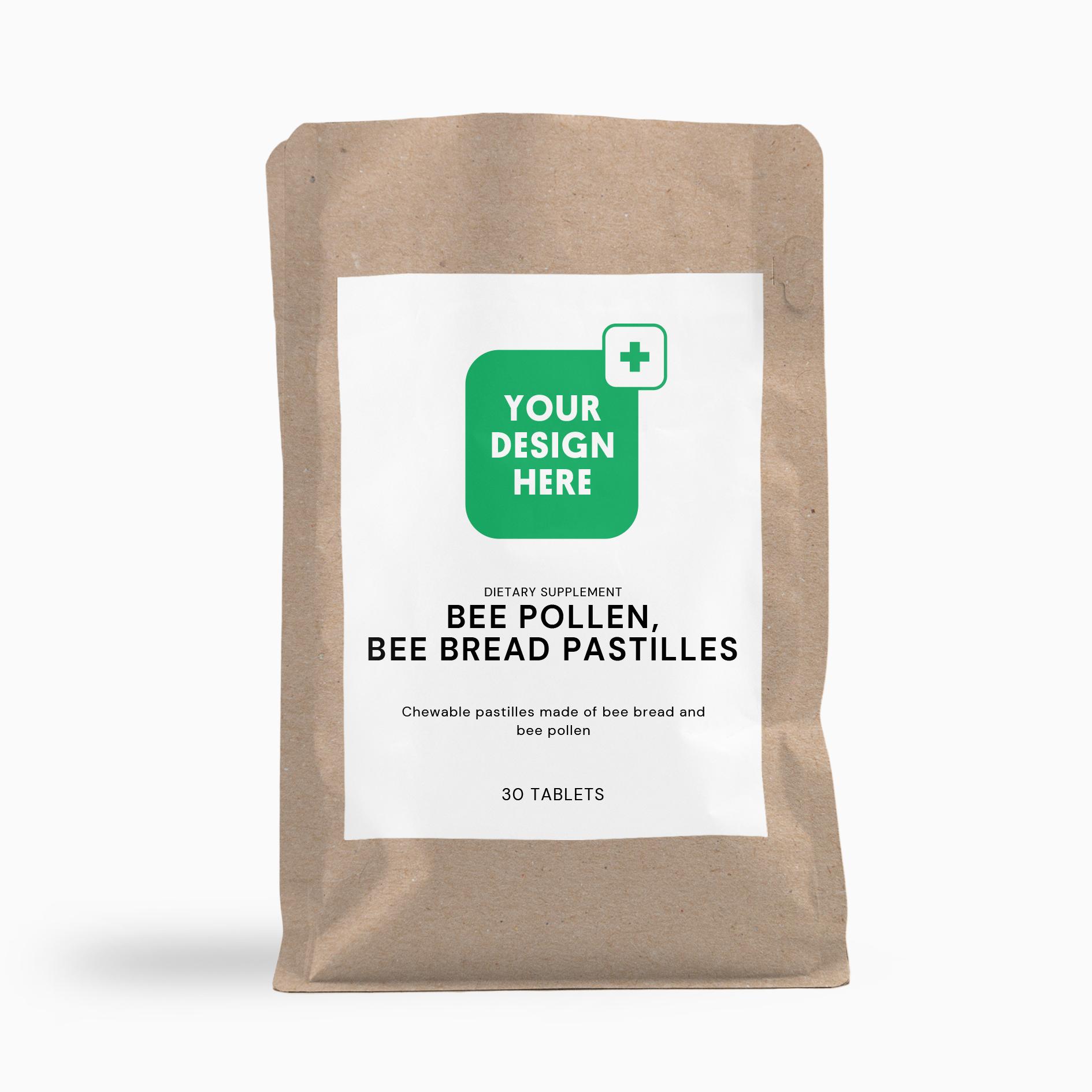Bee pollen, bee bread pastilles